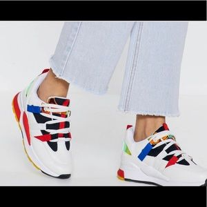 """Nasty Gal """"All Bright Already"""" Colorblock Sneakers"""